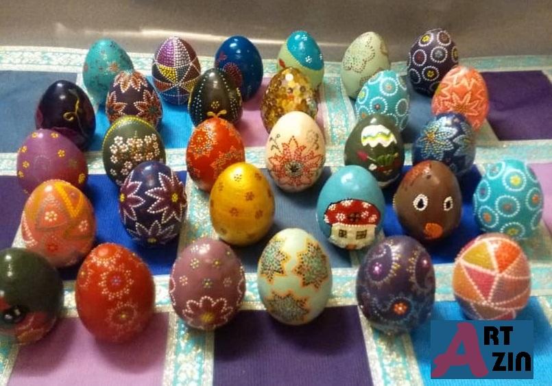 تخم مرغ هنر نقطه کوبی