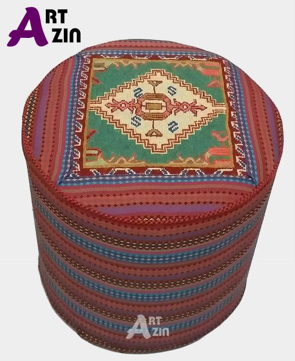 پاف تخت سنتی گرد گلیم سوزنی مبل راحتی